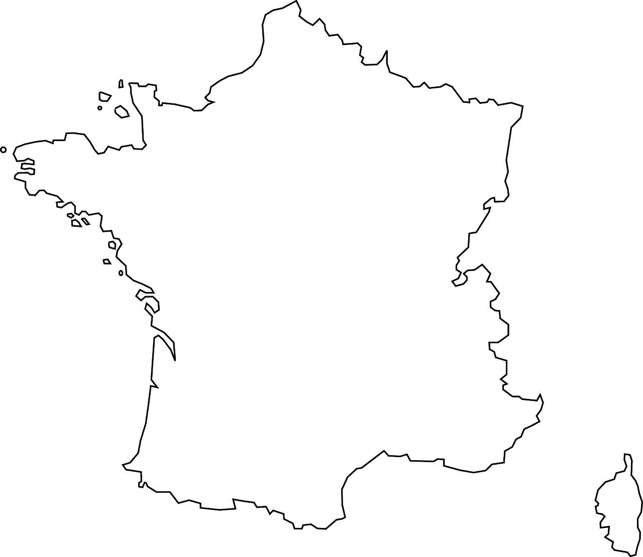 france, map, geography